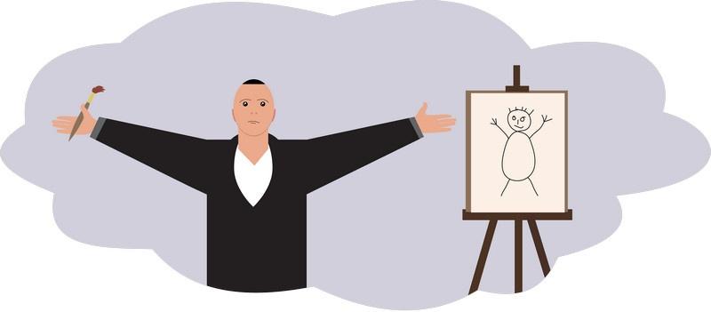 Виталий и его блестящие способности к живописи